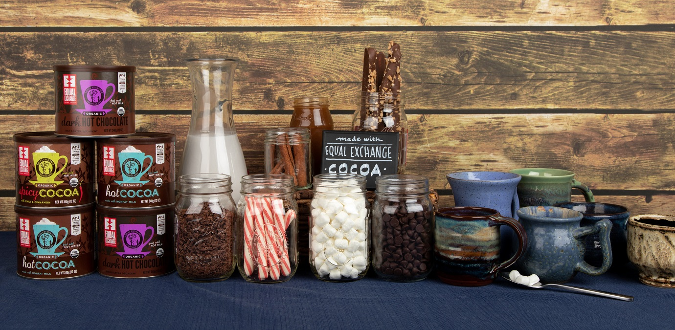 An assortment of toppings for a cocoa bar