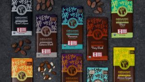 Fair trade chocolate bars from equal exchange