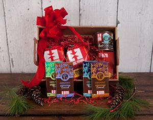 ready-to-give gift box with Equal Exchange products