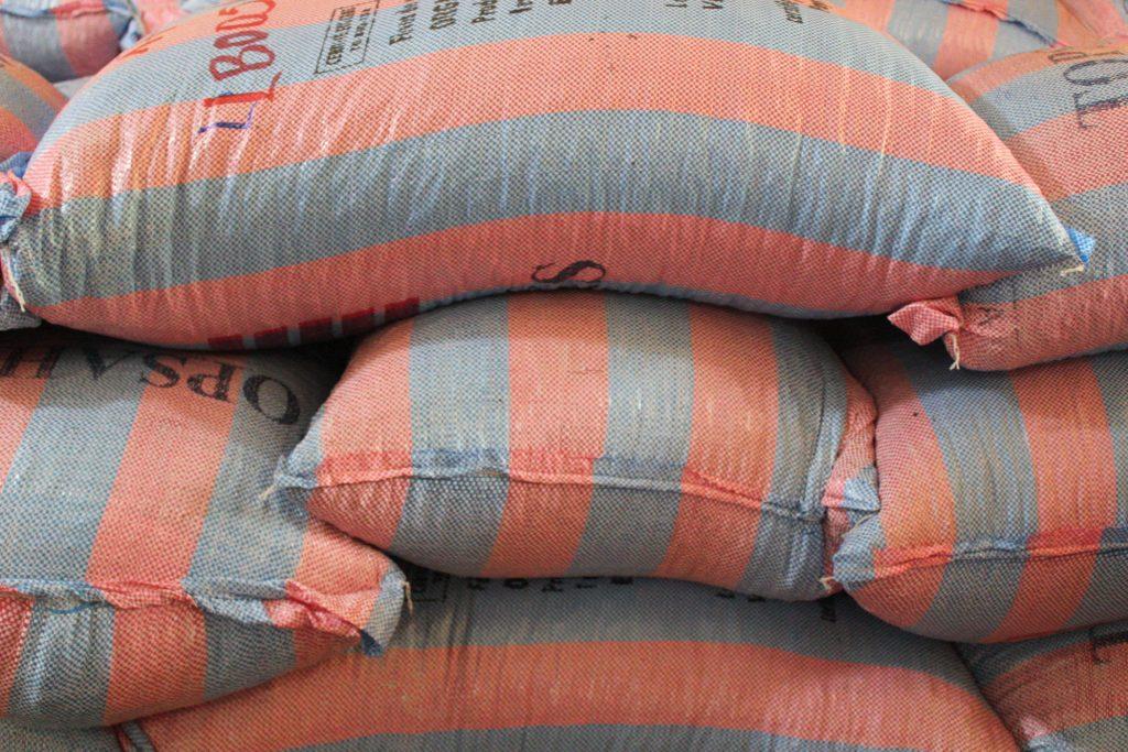 Bags of fair trade cacao