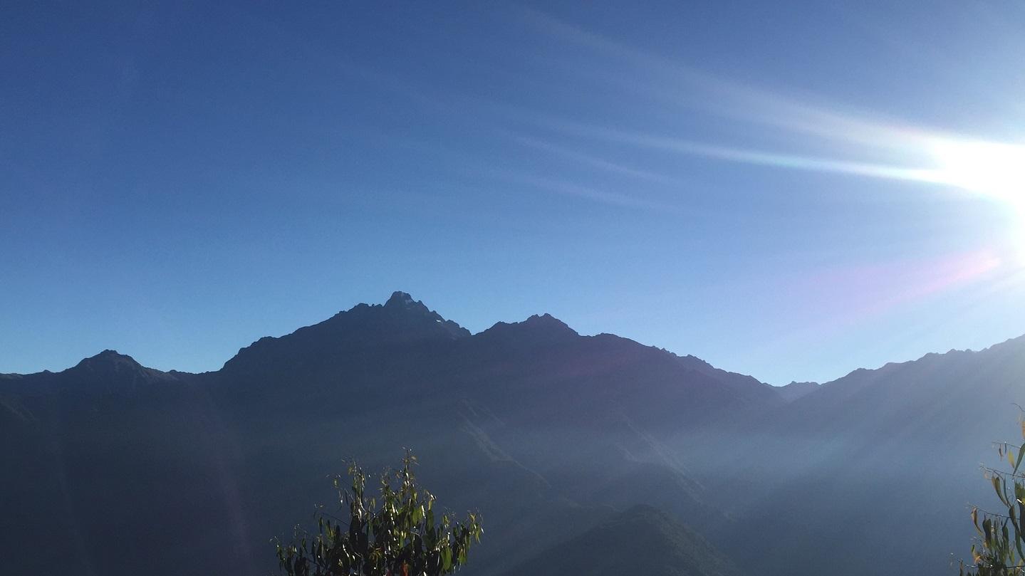 Sun on the mountains